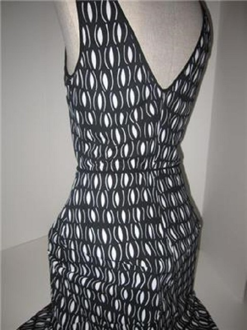 Laundry by Shelli Segal short dress black and white mod diamond print Day To Night Style New/Unused With Tags B/W Wrap Look W Belt Or on Tradesy Image 5