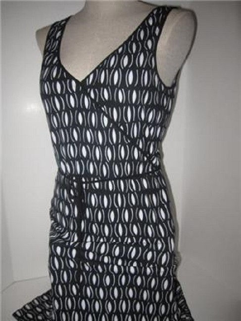 Laundry by Shelli Segal short dress black and white mod diamond print Day To Night Style New/Unused With Tags B/W Wrap Look W Belt Or on Tradesy Image 6