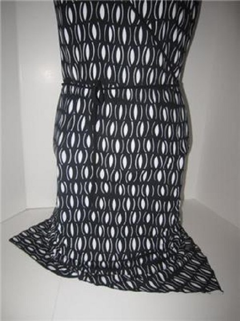 Laundry by Shelli Segal short dress black and white mod diamond print Day To Night Style New/Unused With Tags B/W Wrap Look W Belt Or on Tradesy Image 9