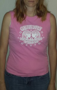 Self Esteem Gemini Sleeveless Small Sale 15off T Shirt Pink/White