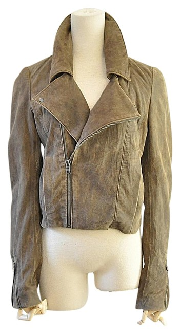 NSF brown Leather Jacket Image 0