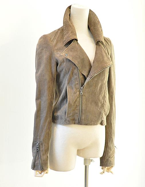 NSF brown Leather Jacket Image 1