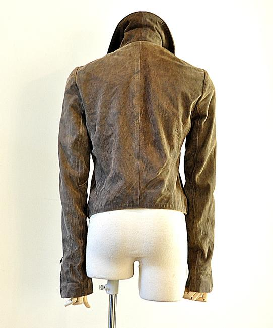 NSF brown Leather Jacket Image 4