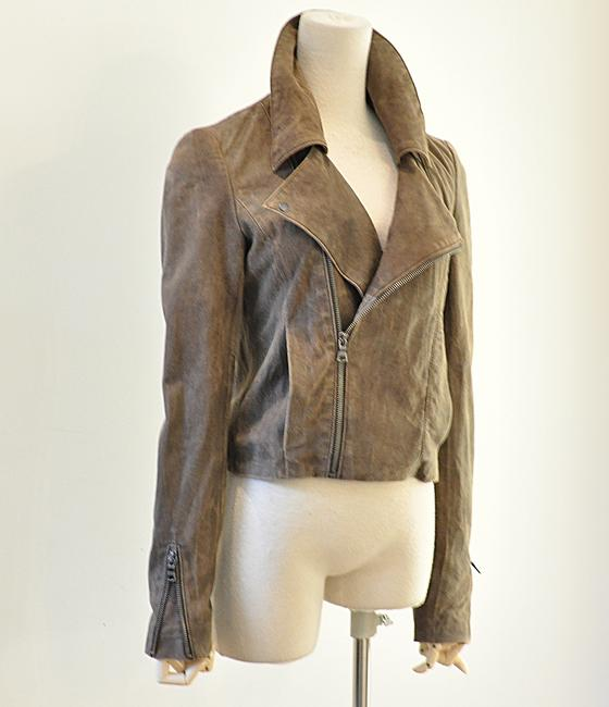 NSF brown Leather Jacket Image 5