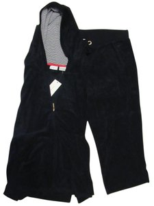 Tommy Hilfiger Company Store Hoodie Zip Front Pocket Terry Jacket w/ Terry Crop Pants