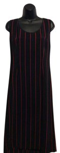 Mijoli short dress Black/Red Stripe on Tradesy