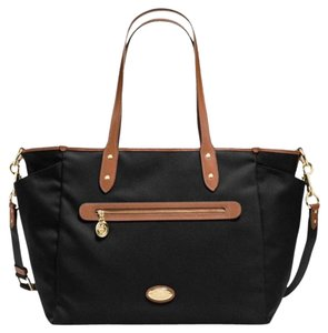 Coach Sawyer Black Diaper Bag