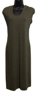 Olive Green Maxi Dress by Max Studio Sleeveless Hoody
