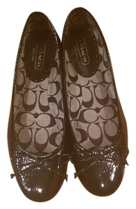 Coach Ballet Patent Leather black Flats