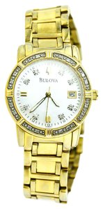 Bulova Bulova Ladies Diamond Gold Tone Watch