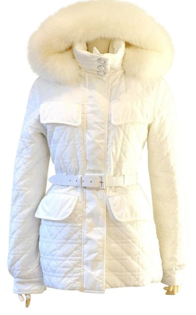 Item - White Cannage Down Groose Parka Jacke Coat Size 6 (S)