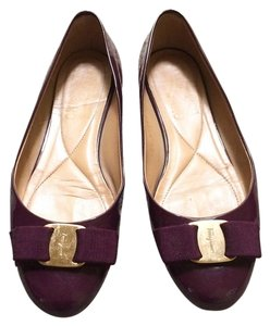 Salvatore Ferragamo Dark Wine Purple Flats