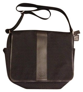 Coach SIGNATURE MESSENGER BAG BLACK SMALL C LAPTOP DIAPER BABY BAG 77004 Messenger Bag