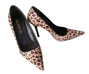 ALDO Leopard Stiletto Animal Print Pointed Toe Textured Leopard print Pumps