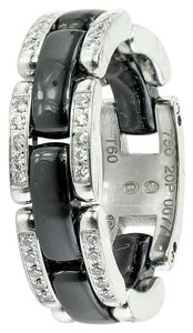 Chanel Chanel Ultra J12 Ceramic and White Gold Diamond Ring