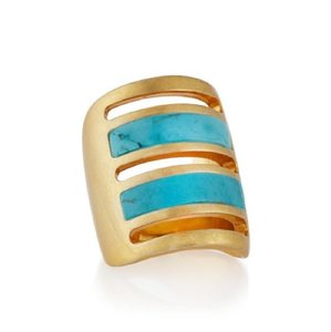 PAMELA LOVE Pamela Love Irissa Gold Turquoise Path Ring