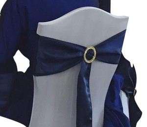 Satin Navy Chair Sashes