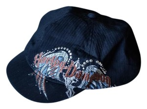 Harley Davidson Embroidered/embellished newsboy cap
