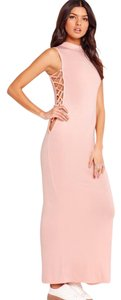 Nude pink Maxi Dress by Missguided