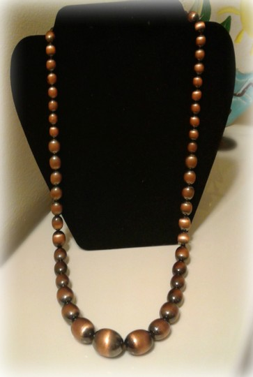 Other Women Brushed Copper Necklace Image 1