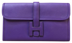 Herms Hermes Like New Leather Jige clutch Wallet Bag