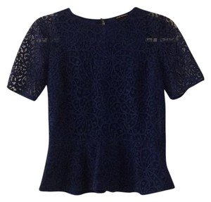 Club Monaco Lace Peplum Top Royal Blue