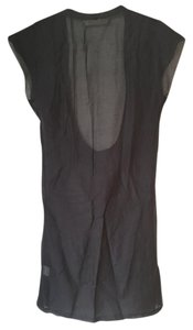 Graham & Spencer short dress Soft Grey Draped Scoop Neck Draw-string on Tradesy
