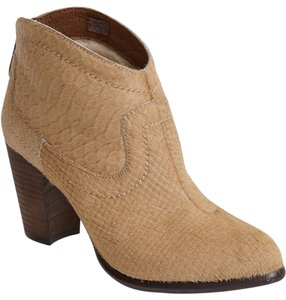 UGG Australia Tall Charlotte Snake Embossed Calf Hair Ankle tan Boots