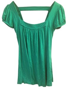 Cutaway Cut-out Embellished Top Green