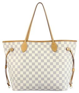 Louis Vuitton Lv Neverfull Mm Canvas Tote in Damier Azur