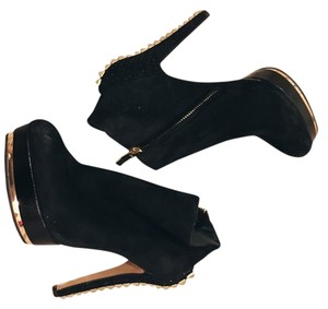 Vince Camuto Black and gold Boots