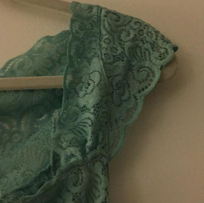 Free People Button Down Shirt Teal/Mint Image 3