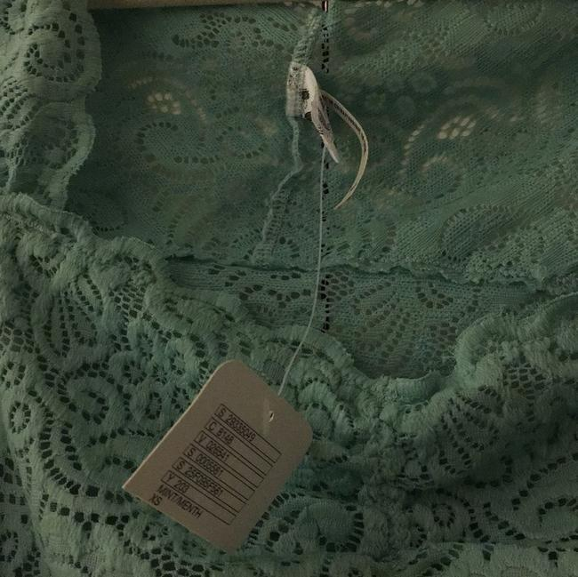 Free People Button Down Shirt Teal/Mint Image 4