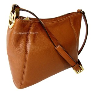 Michael Kors Fulton Leather Medium Cross Body Bag