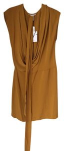 Diane von Furstenberg Sash Drape Belted Drop Neck Dress