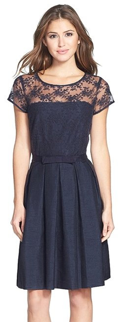 Preload https://item5.tradesy.com/images/taylor-lace-sheer-a-line-dress-navy-1985409-0-0.jpg?width=400&height=650