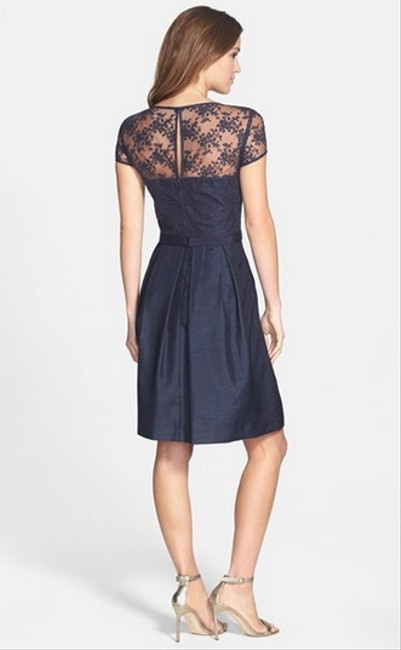 Taylor Lace Sheer A-line Dress