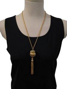 Vintage 1960s Gold Plated Tassel Necklace