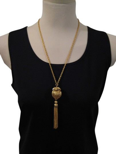 Preload https://item3.tradesy.com/images/gold-plated-vintage-1960s-tassel-necklace-1985417-0-0.jpg?width=440&height=440