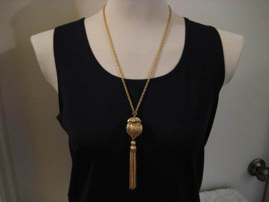 Other Vintage 1960s Gold Plated Tassel Necklace