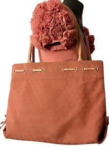 Dooney & Bourke Tote in Peach with leather straps