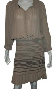 Isabel Marant short dress Taupe Silk on Tradesy