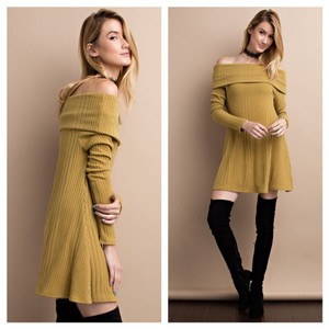 short dress Mustard on Tradesy