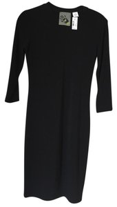Normakamali With Tags 3/4 Sleeve Scoop Dress