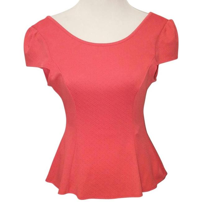 Open Back with Bow Size L Party Top Red-Orange