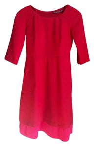 Zara Wool Crepe Silk Dress