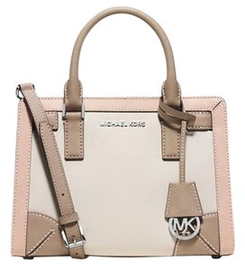 Michael Kors Satchel in Ecru/Ballet/Dark Taupe