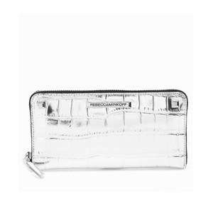 Rebecca Minkoff Ava Croc Embossed Leather Wallet