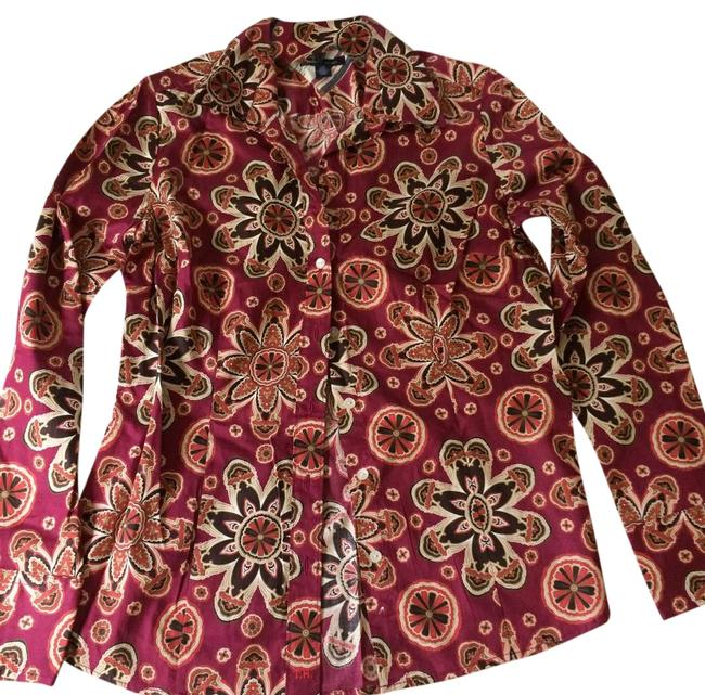 Item - Red Blouse Size Petite 4 (S)