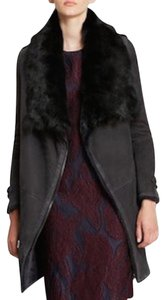 Burberry Shearling Leather Fur Coat